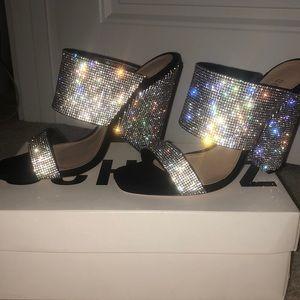 SCHUTZ rhinestone heels